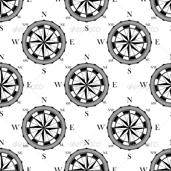 GraphicRiver Seamless Pattern of Vintage Compasses 7286103