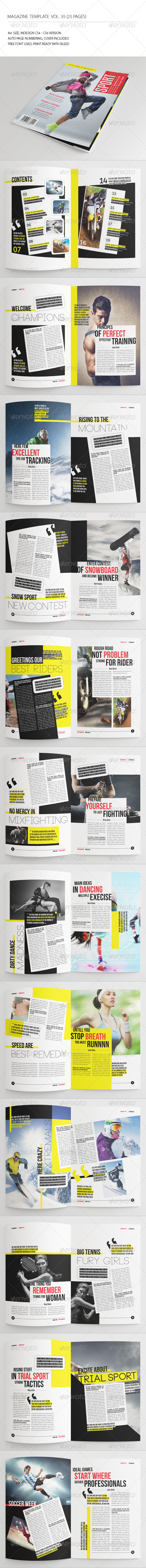 GraphicRiver 25 Pages Sport Magazine Vol35 7286254