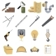 Construction Repair Tools Icons Symbols Vector - GraphicRiver Item for Sale