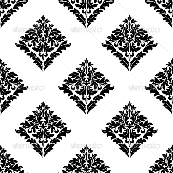 GraphicRiver Diamond Shaped Floral Seamless Motif 7286367