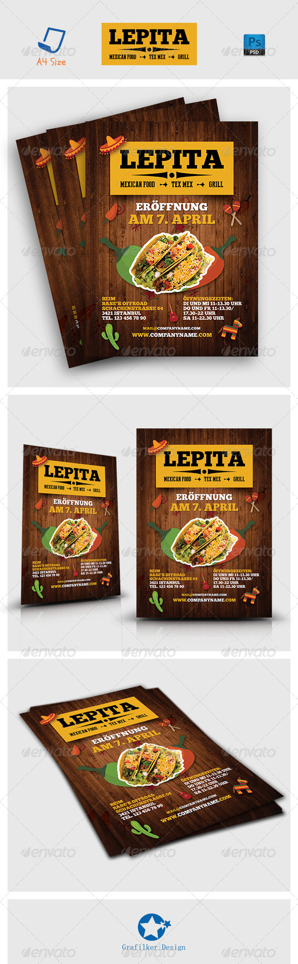GraphicRiver Mexican Food Flyer Templates 7286377