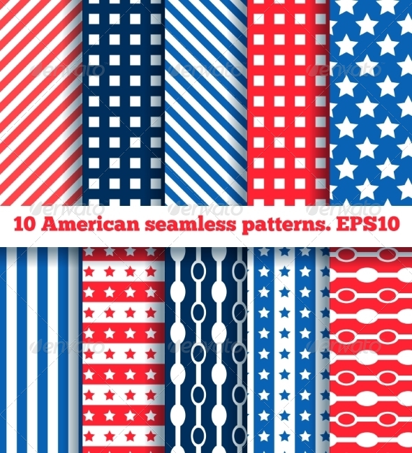 GraphicRiver 10 American Seamless Patterns 7286420