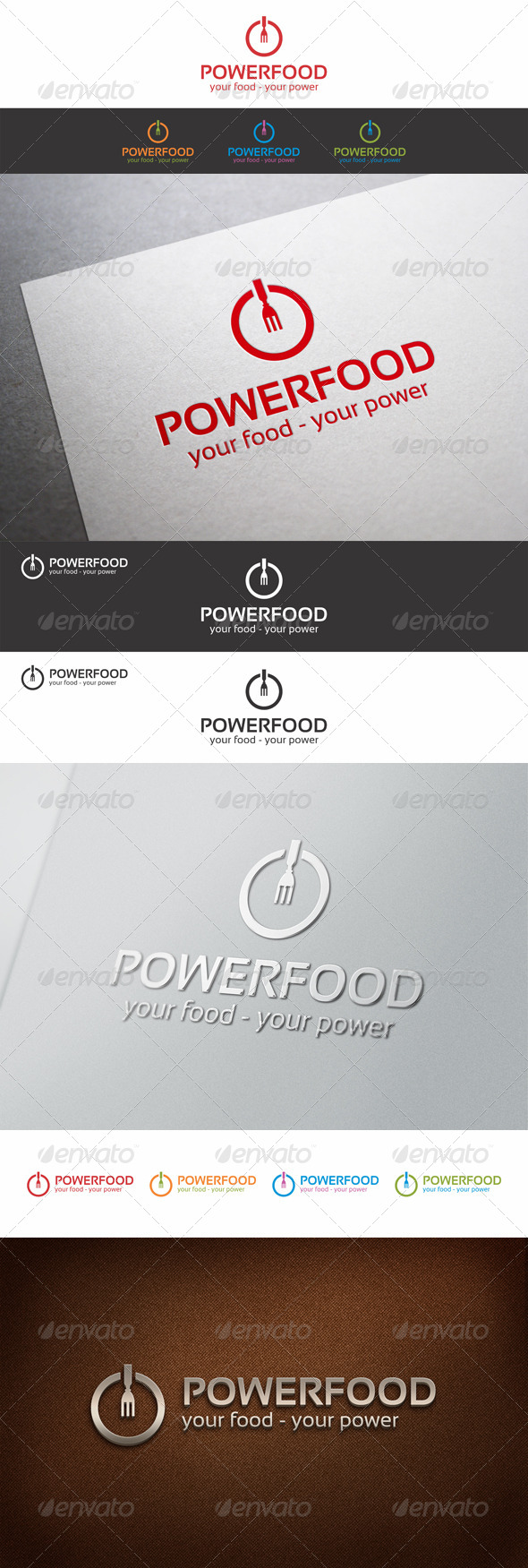 GraphicRiver Power Food Logo Template v2 7286427