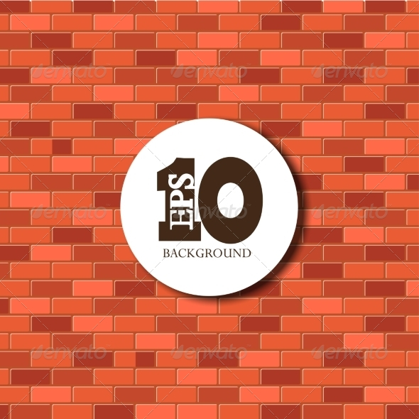 GraphicRiver Vector Red Brick Background EPS 10 7286521
