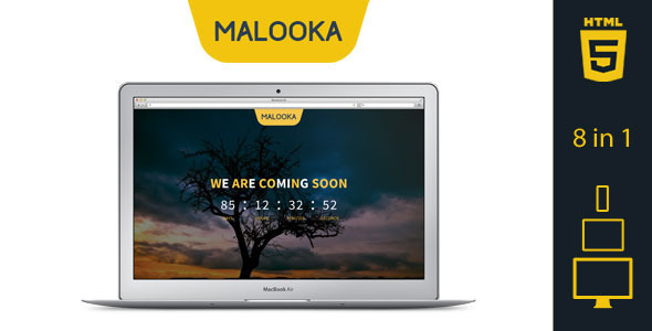 ThemeForest Malooka Coming Soon Template 7240083
