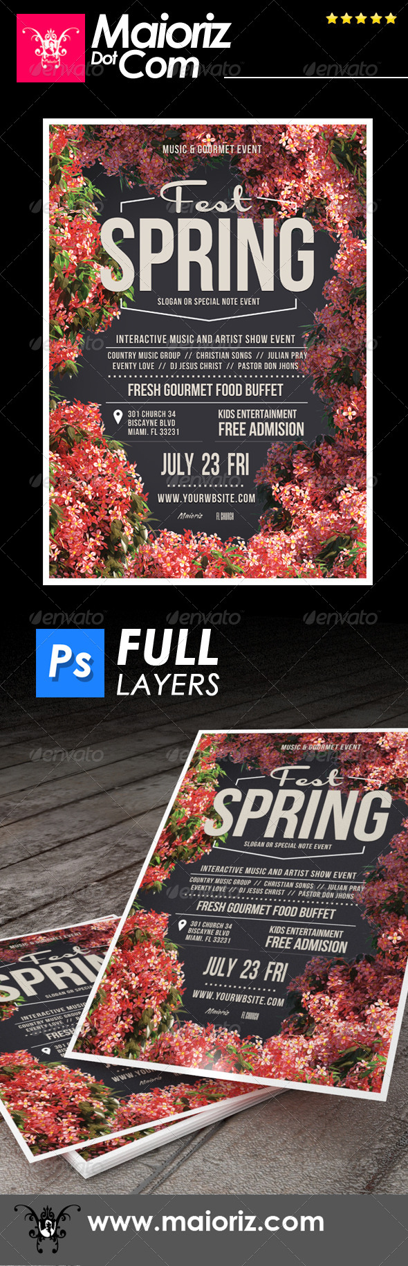 GraphicRiver Spring Flyer Fest 7286706
