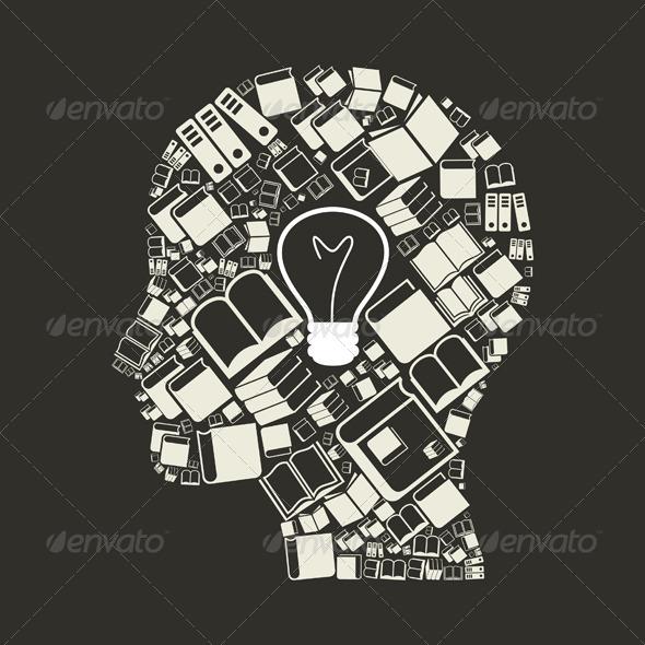 GraphicRiver Head Made of Books 2 7286730
