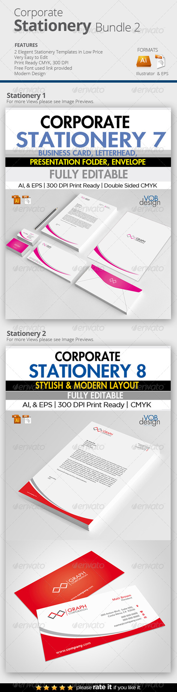 GraphicRiver Corporate Stationery Bundle 2 7287057