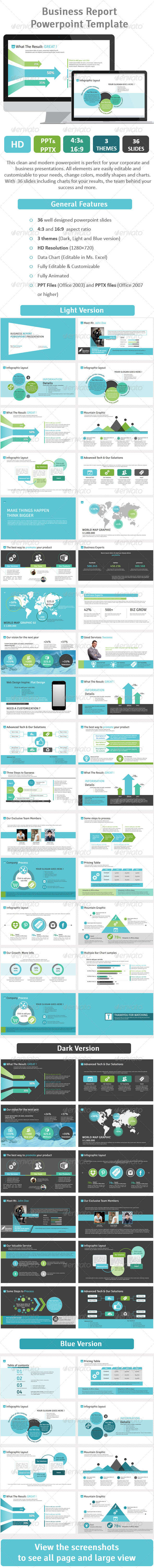 GraphicRiver Business Report Powerpoint Template Vol.2 7250072