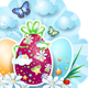 Easter Background with Eggs and Butterflies - GraphicRiver Item for Sale