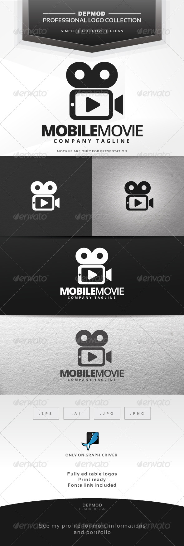 GraphicRiver Mobile Movie Logo 7287271