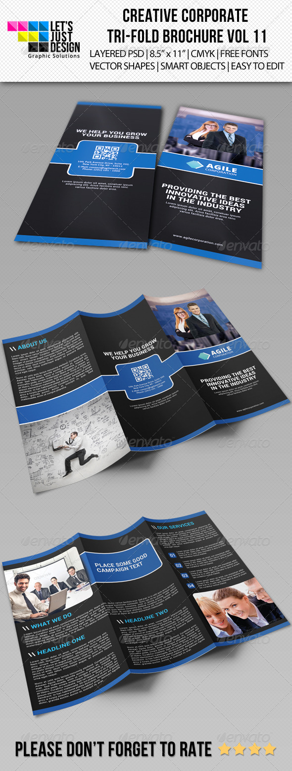 GraphicRiver Creative Corporate Tri-Fold Brochure Vol 11 7287276