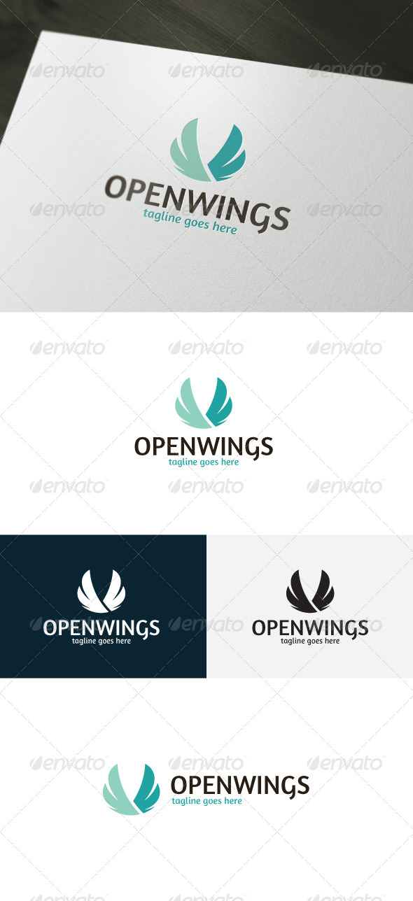 GraphicRiver Open Wings Logo 7287296