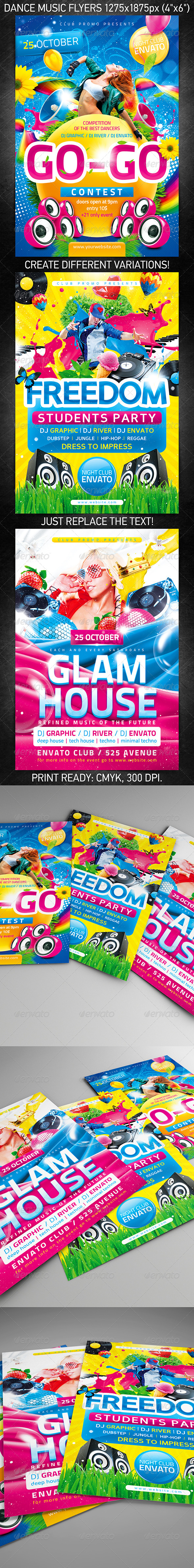 GraphicRiver Dance Music Flyer Bundle 7287553