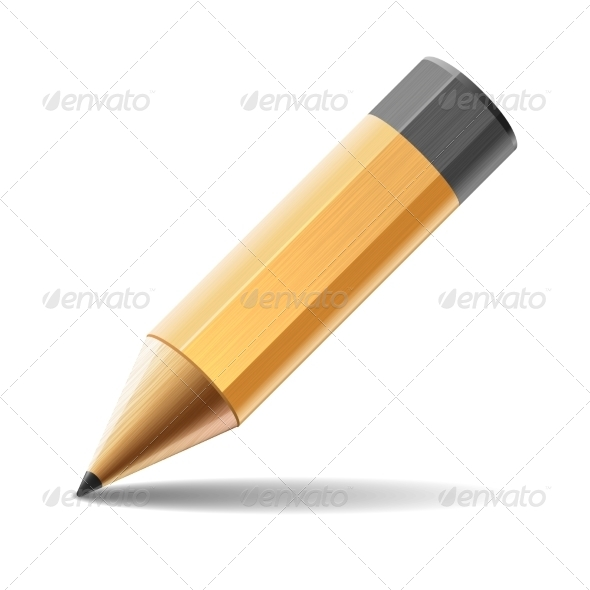 GraphicRiver Pencil Isolated on White Background 7287688
