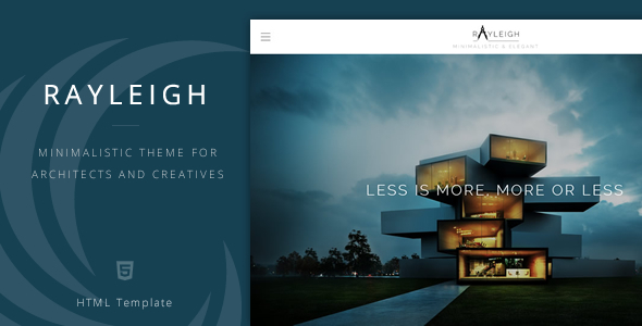 ThemeForest Rayleigh A Responsive Minimal Architect Template 7245889