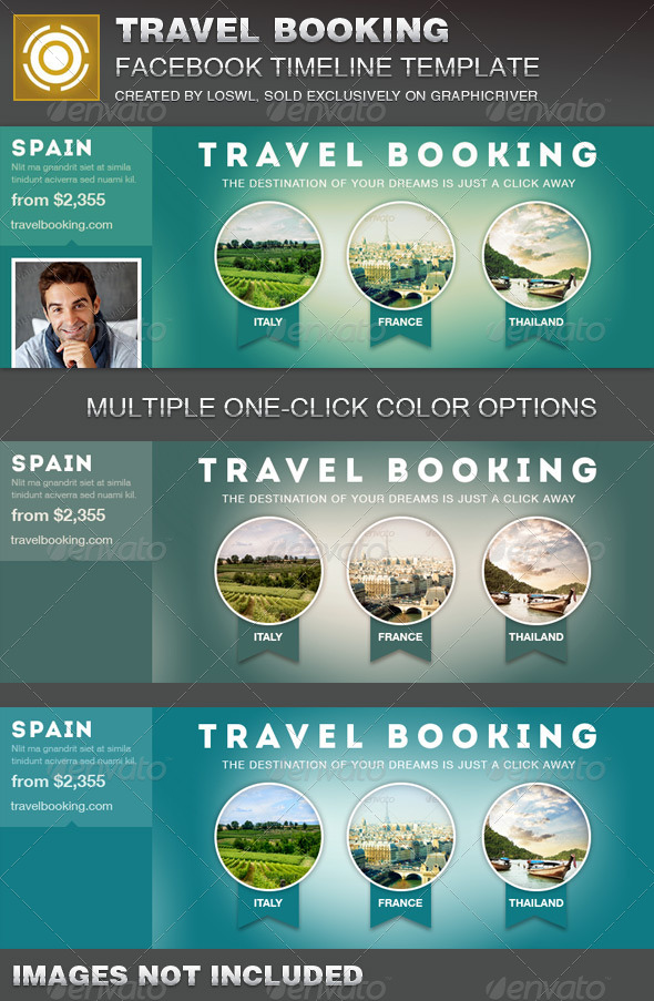 GraphicRiver Travel Booking Facebook Timeline Cover Template 7258150