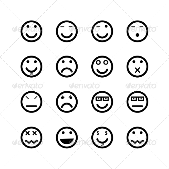 GraphicRiver Icons of Smiley Faces 7288076