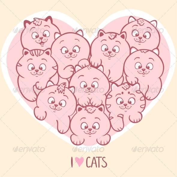 GraphicRiver Love Cats 7288188