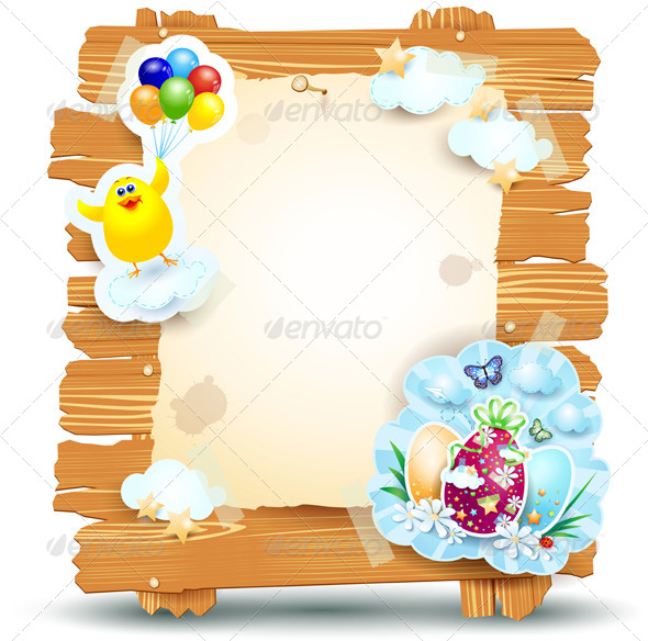 GraphicRiver Easter Signboard 7288193