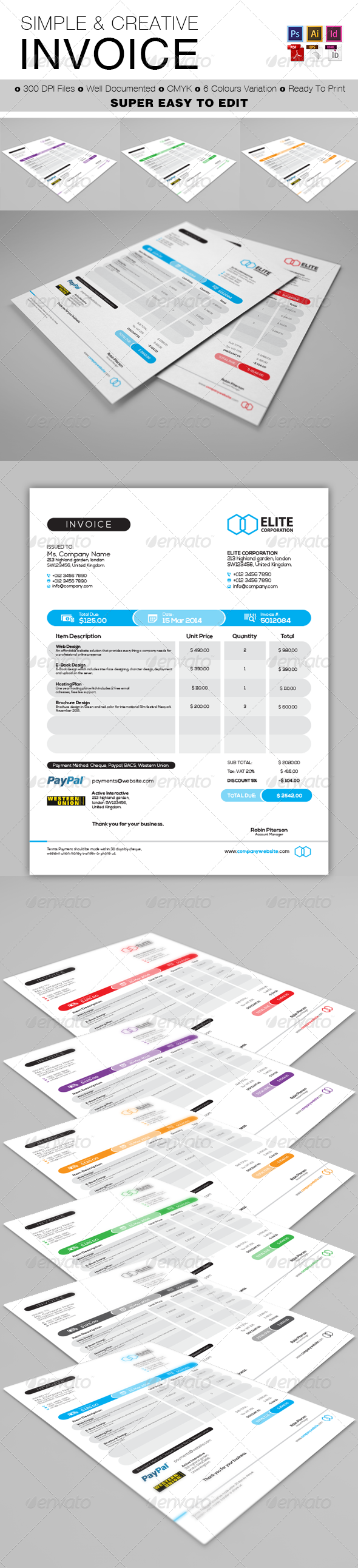 GraphicRiver Invoice 7288702