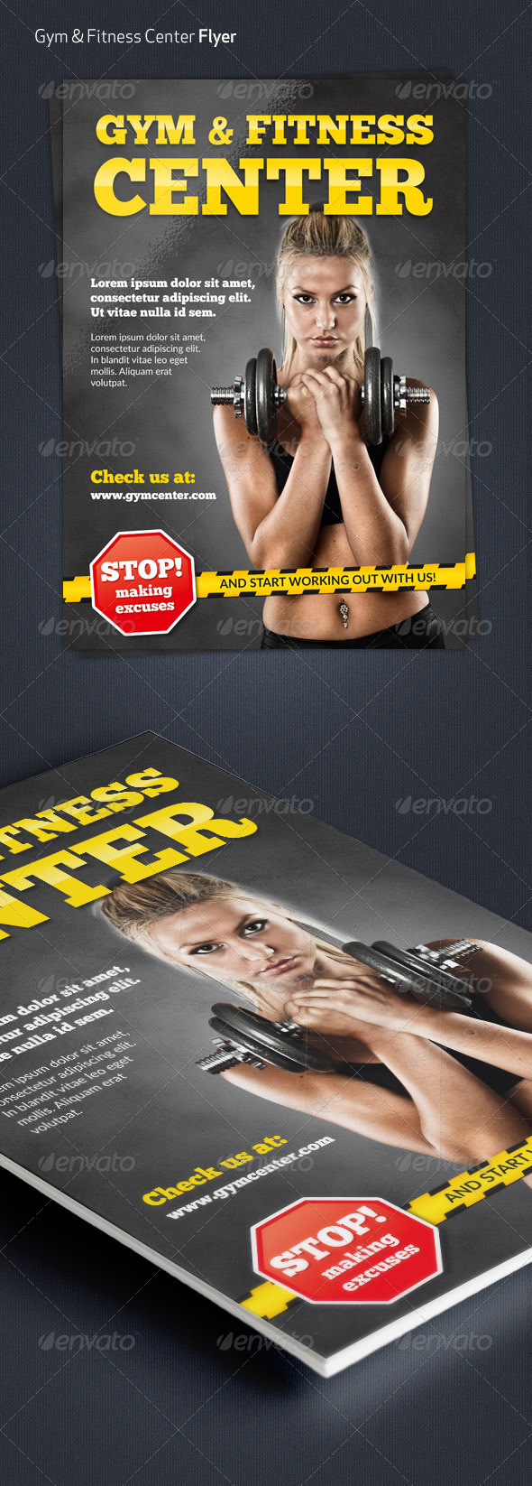 GraphicRiver Gym & Fitness Center A4 Flyer 7289181