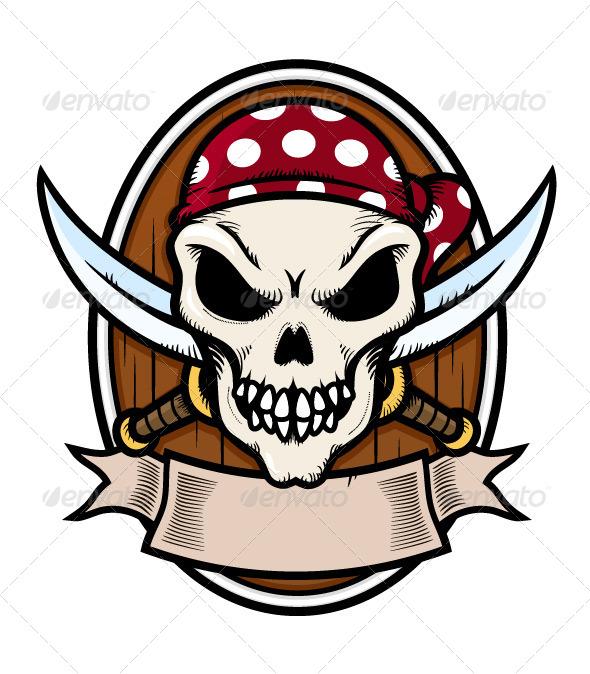 GraphicRiver Pirate Emblem 7289260