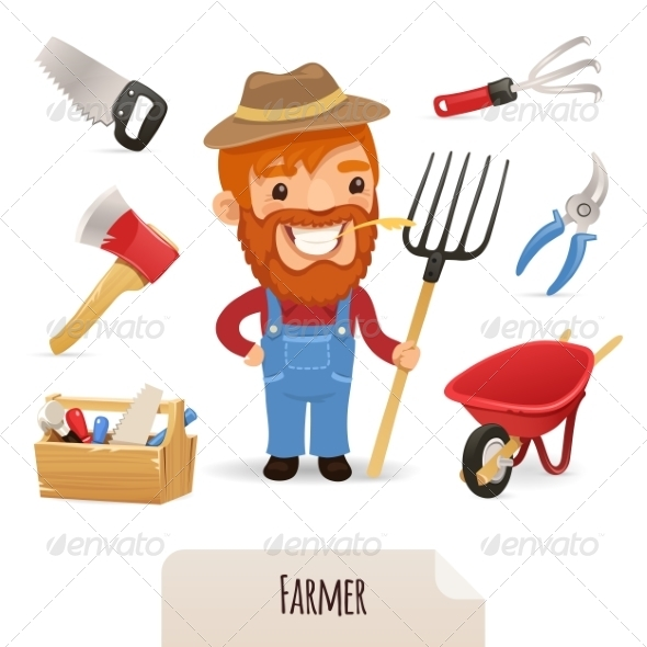 GraphicRiver Farmer Icons Set 7289560