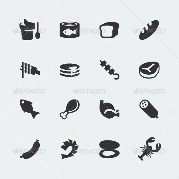 GraphicRiver Food Icons 7289660