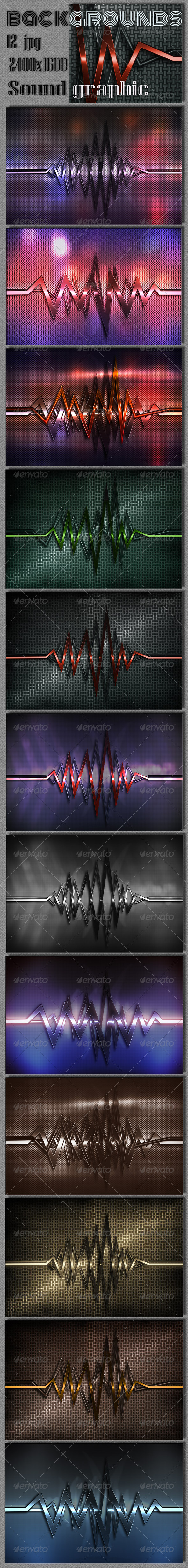 GraphicRiver Sound Graphics Metal Background 7289664