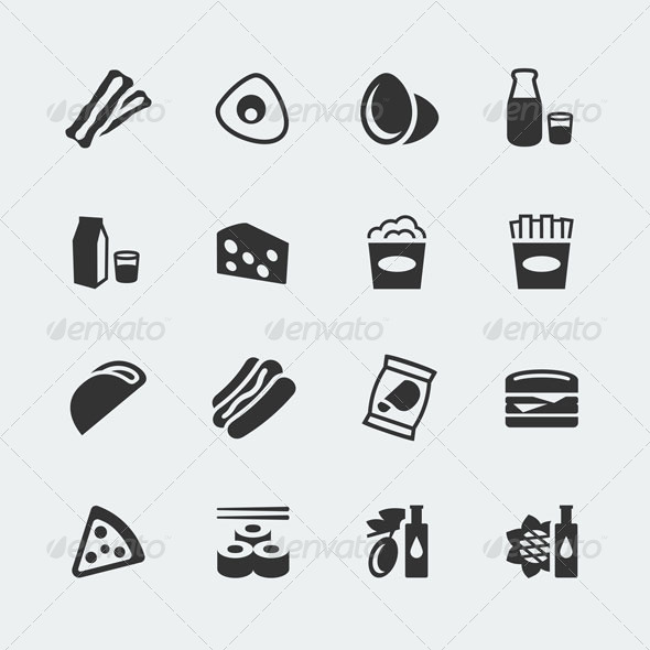 GraphicRiver Food Icons 7289669