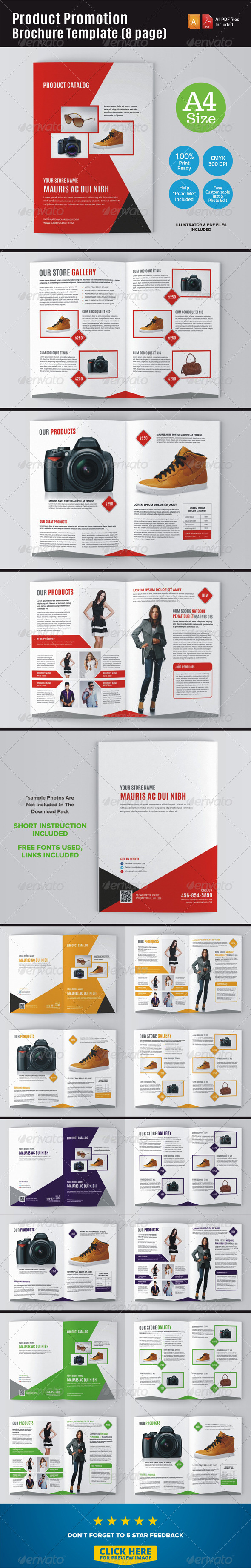 GraphicRiver Product Promotion Brochure Template 8 Page 7264778