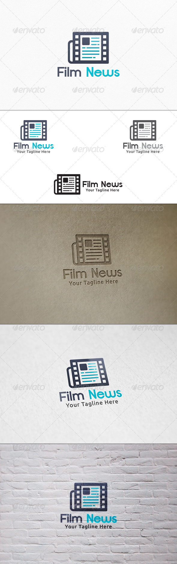 GraphicRiver Film News V2 Logo Template 7290481