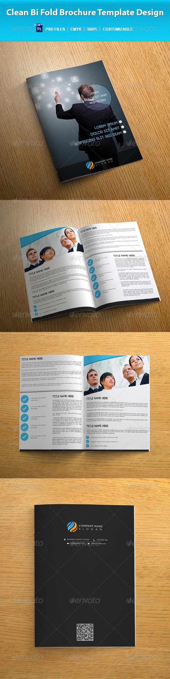 GraphicRiver Clean Bi Fold Brochure Template Design 7290501