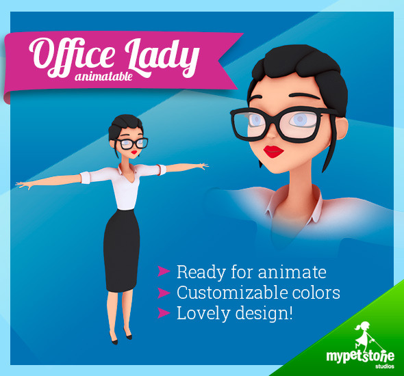 3DOcean Office Lady 7290668