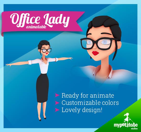 3DOcean Office Lady 7290668
