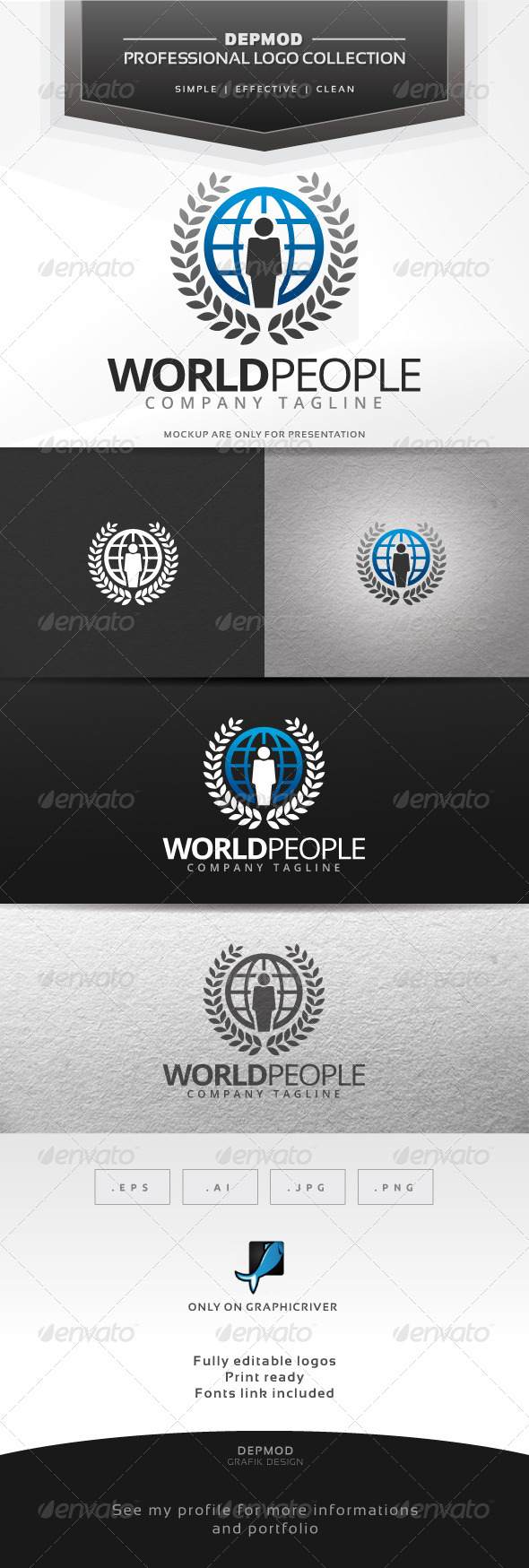GraphicRiver World People Logo 7290669