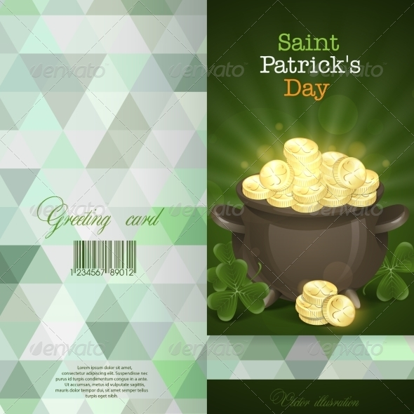 GraphicRiver St Patrick s Day Pot Of Gold 7290904