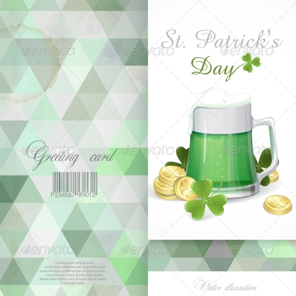 GraphicRiver Mug of Green Beer for St Patrick s Day 7290945