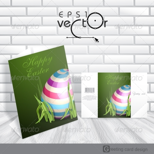 GraphicRiver Easter Background With Eggs In Grass 7291026
