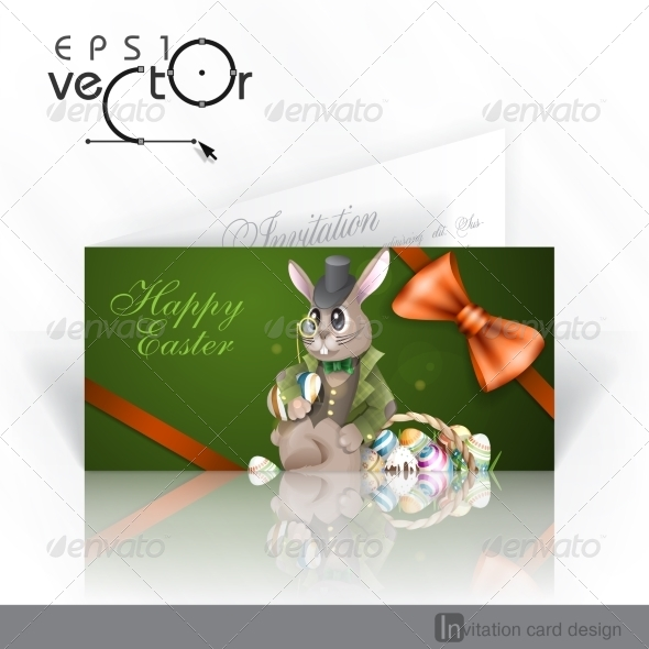 GraphicRiver The Easter Bunny With A Basket 7291031