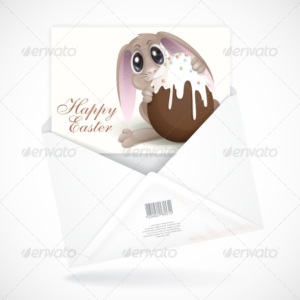 GraphicRiver Easter Bunny with Chocolate Egg 7291032