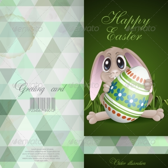 GraphicRiver Easter Bunny with Colorful Egg 7291035