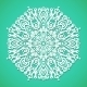 Mandala or Snowflake on Bright Turqoise - GraphicRiver Item for Sale