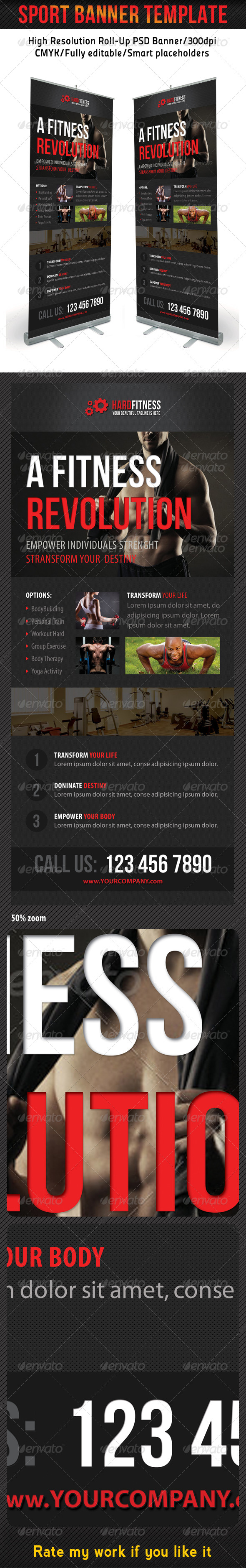 GraphicRiver Sport Banner Template 16 7291302