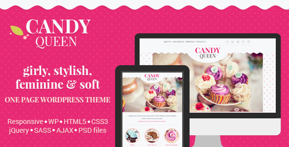 ThemeForest Candy Queen Responsive One Page Theme 7127489