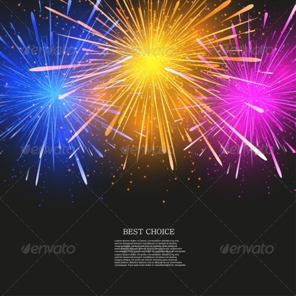 GraphicRiver Vector Creative Fireworks Modern Background 7291357