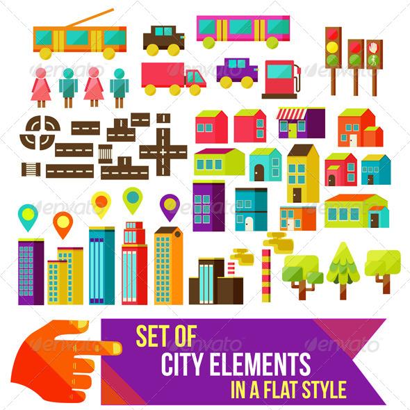 GraphicRiver Set of City Infographics 7291445
