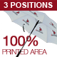 Umbrella Mock-up <3 Positions> 100% Printed Area! - GraphicRiver Item for Sale