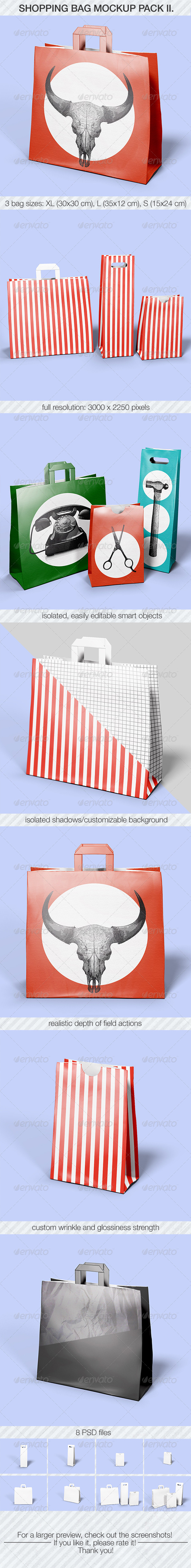 GraphicRiver Shopping Bag Mockup Pack II 7291582
